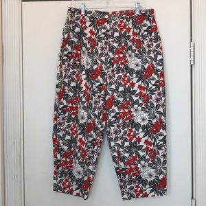 Charter club cotton print Capri pants size 16